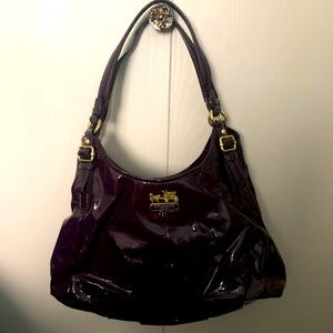 Coach Maggie Madison PatentLeather Hobo/Shoulder
